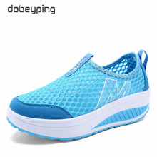 2018 Spring Summer Shoes Woman Breathable Air Mesh Flat Platform Women Shoes Slip On Women's Loafers Swing Wedges Ladies Shoe women s platform shoes new spring casual woman weave shoes breathable girls handmade sapatos femininos loafers ladies shoes fx3