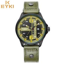 2c215f6d45b Homens EYKI luminosa à prova d  água calendário relógios de quartzo homem  moda casual dia data relógio do esporte exército relóg.