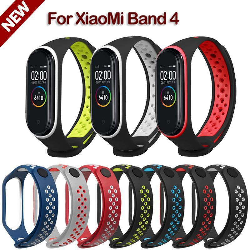 Miband 4 Double Color Sport Bracelet Strap For Xiaomi Mi Band 4 Silicone Replacement Watch Wristband For Xiaomi Band 4
