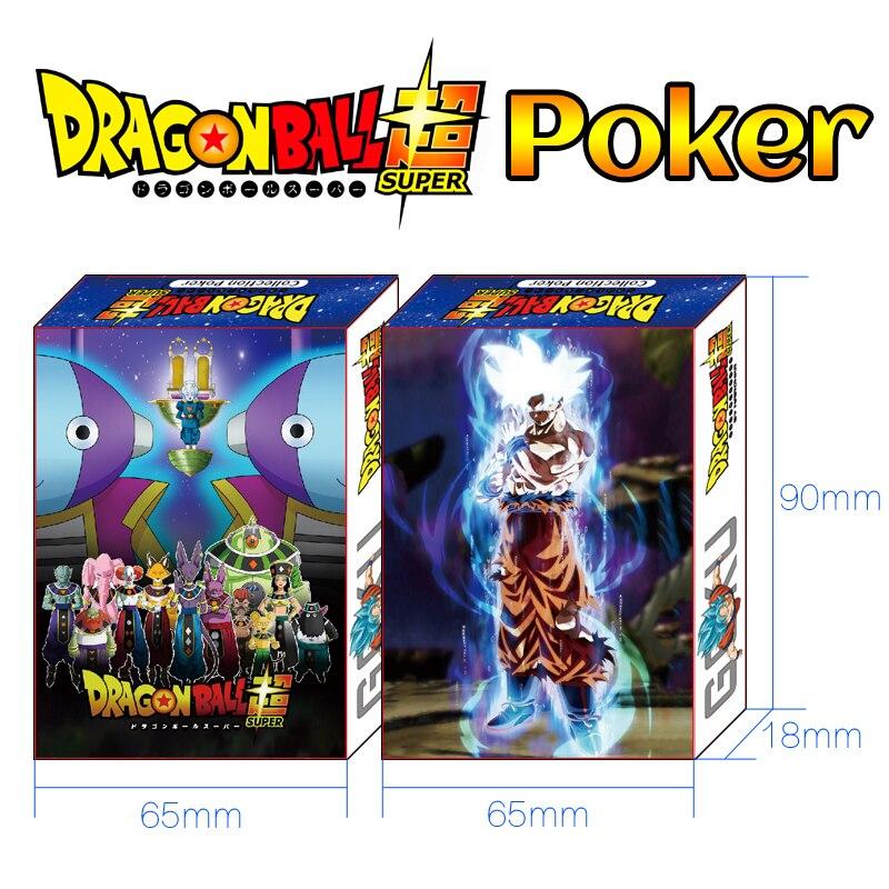 54Pcs/set Dragon Ball Super Figures Collection Goku Broli Gogeta Poker Cards Color Box Packing Kid Gift Toy