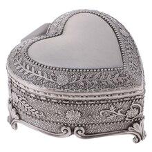 Heart Shape Jewelry Trinket Box