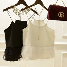 CL resistant pushing a single product left to see double temperament feather bralet Camis