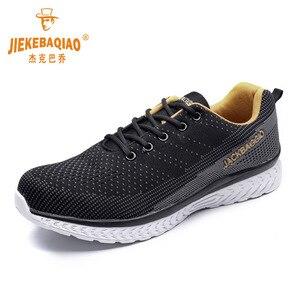 Image 3 - Botas de marca zapatos de trabajo para hombre, zapatos de seguridad informales, zapatos de punta de acero de malla ligera, Industrial, antideslizante y transpirable