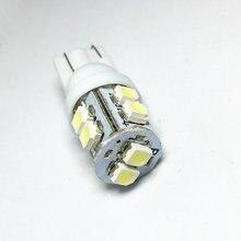 1 pçs branco azul carro led luz 10 smd led 1210 t10 501 194 168 w5w 3528 smd lado cunha lâmpada dc 12v