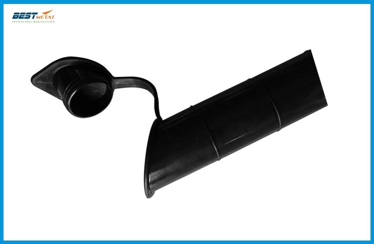 4 pieces 30 degree Fishing Rod holder Inner Sleeve Rod Pod black Rubber Cap Tube Liner