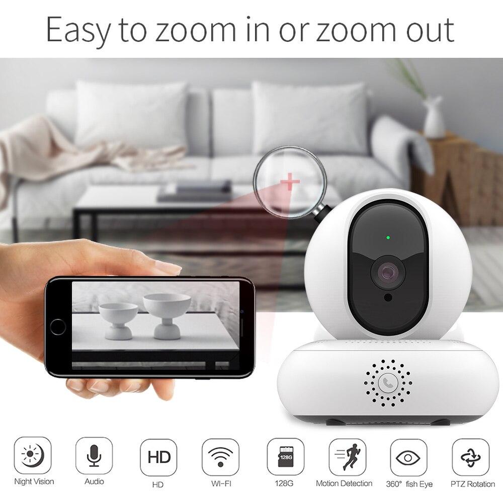 Caméra de sécurité sans fil Wifi réseau Internet HD 1080 P H.264 vidéo caméra PTZ IP/NTP Vision nocturne moniteur enfant Mini caméra Wifi