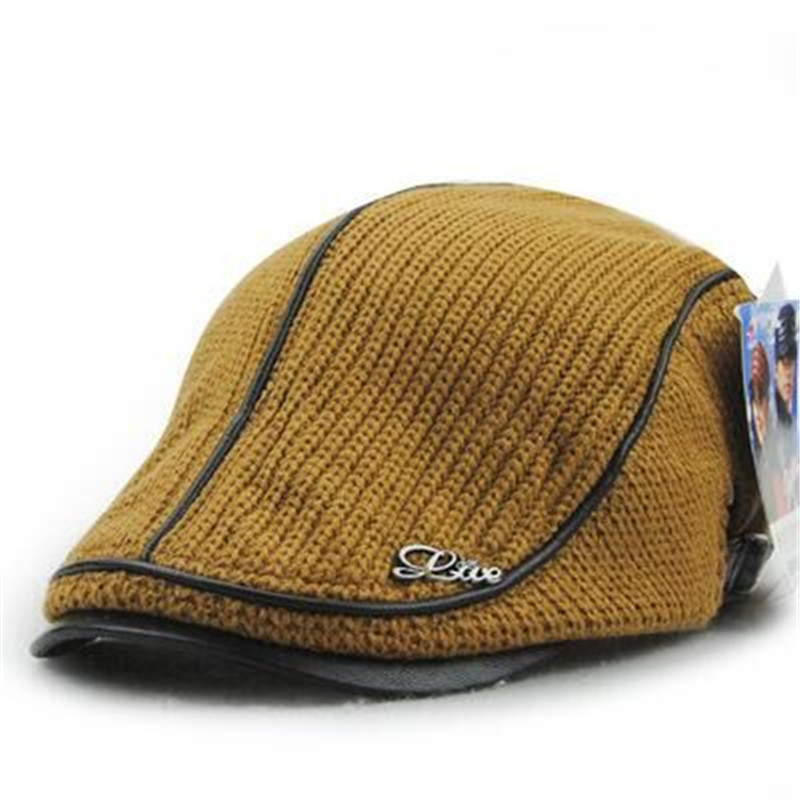 hatSnapback free delivery of new knitted peaked cap man old vintage British high-grade wool BERET HAT in autumn and winter