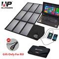 ALLPOWERS Panel Solar 60 W 5 V 12 V 18 V plegable portátil cargador de batería Solar para iphone batería del coche del teléfono inteligente 12 v