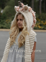 Children Hat Knitting Thick Hat Unicorn Cloak Baby Caps Scarf Snow Hats Autumn Winter Warm And