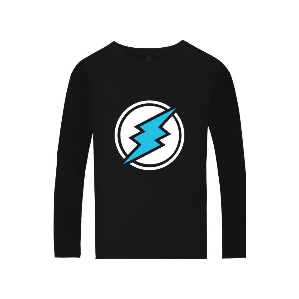 Electroneum Logo Print T-shirt Blockchain Electroneum Cotton Long Sleeve Tees Bitcoin Electroneum cryptocurrencies Summer tshirt 1