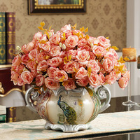 guci European luxury ceramic ear vases home living room entrance resin flower decorated ornaments table vases decorated pie