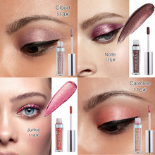 NEW Color PHOERA Magnificent Metals Glitter and Glow Liquid Eyeshadow  Waterproof Shimmer Eye Shadow 5.14DJL