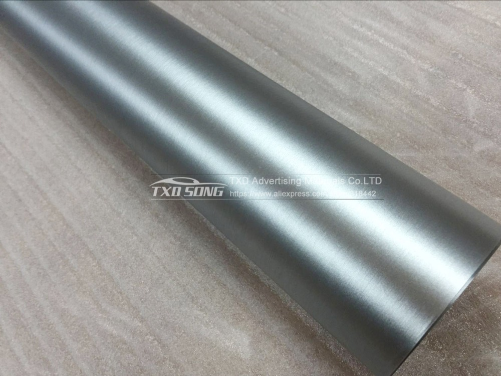 Film d'emballage en vinyle chromé mat métallisé argent avec bulles d'air avec taille: 1.52*20 M/Roll par livraison gratuite - 3