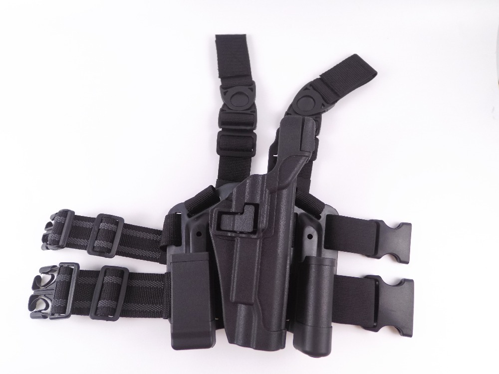 Hunting Holster Right Hand for Colt 1911 Gun holster Hunting Gun Holster Colt 1911 holster tactical 1911 leg holster right thigh paddle belt level 3 lock duty pistol gun holster w magazine torch pouch for colt 1911