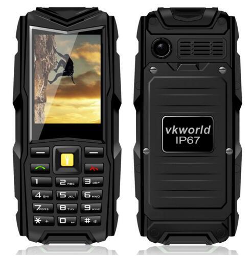 "In stock VKworld Stone V3 2.4"" IP67 Waterproof Shockproof Dustproof Dual SIM CellPhone 5200mAh Long Standby Outdoor Power Bank"
