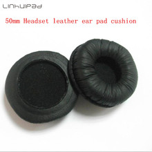 50mm Leatherette Ear Cushions /headset covers 4pcs free shipping by mail