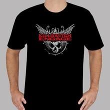 Awesome Tees Summer O-Neck Short Sleeve Mens New Killswitch Engage Metal Rock Band Logo MenS Black Tee Shirt