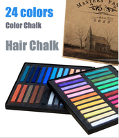 24 색 패션 그림 분필, 인기있는 컬러 헤어 분필, 그림 컬러 분필 hign 품질 24 염색 머리 크레용 아티스트 CH017