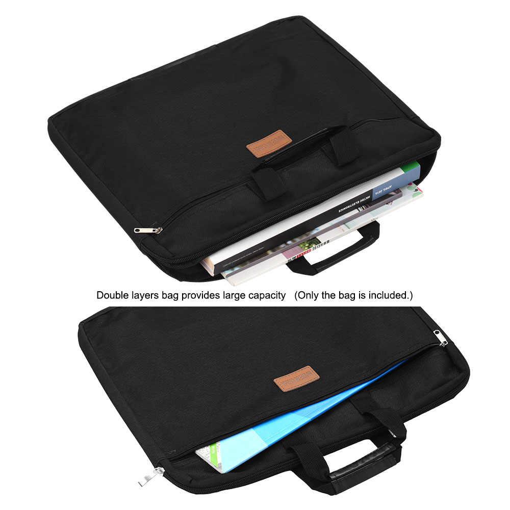 Carpeta de archivos a prueba de agua capacidad doble capas soporte de documentos bolsa de archivo con cremallera con asa bolso de lona impermeable