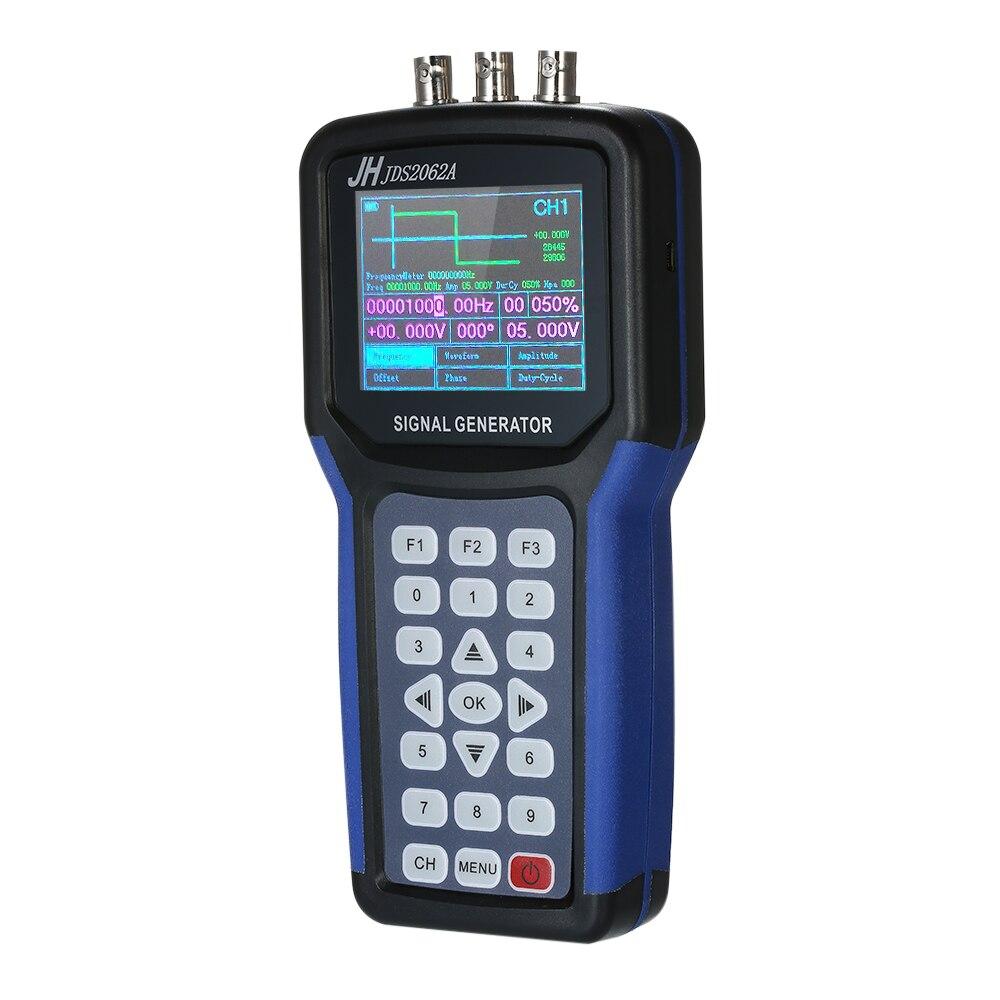 LCD Display Handheld 2 Channel Digital Signal Generator Portable Frequency Function Meter Generator 30MHz Output 2CH 3.2 TFTLCD Display Handheld 2 Channel Digital Signal Generator Portable Frequency Function Meter Generator 30MHz Output 2CH 3.2 TFT