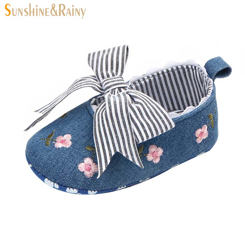 Kids Big Bow Princess Shoes Girls Flower Striped Shoes For Babies Toddler Girl First Walkers Orthopedic Footwear For Newborns