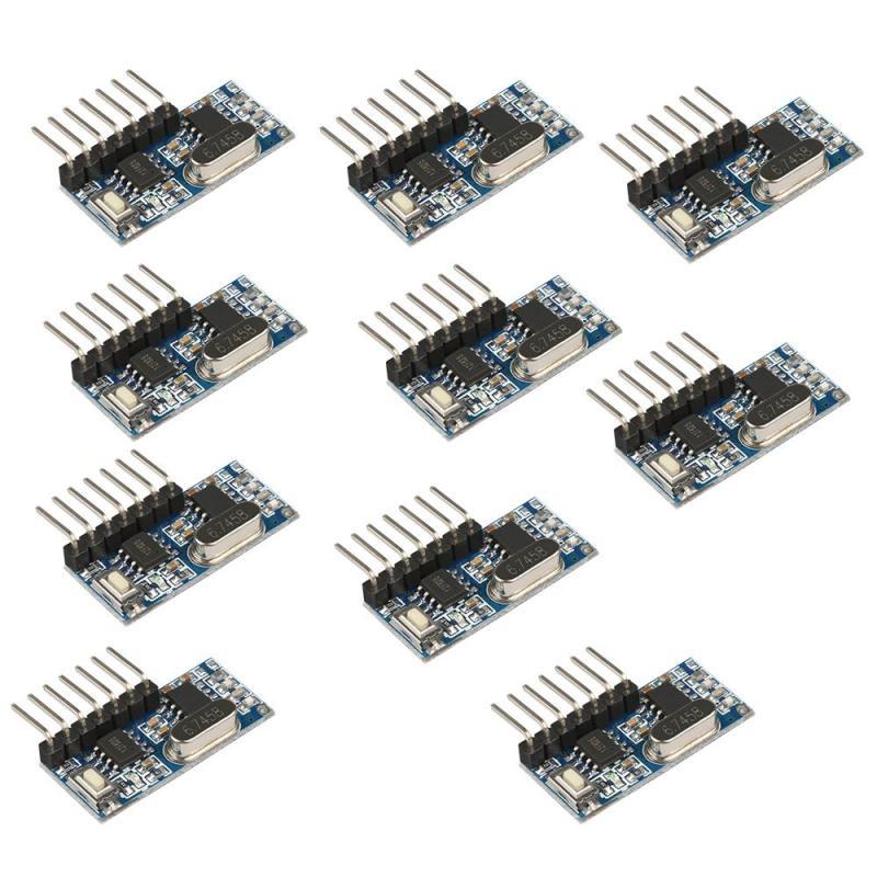 10 Pcs Universel 433 MHz RF Relais Récepteur Module D'apprentissage Code EV1527 DIY Kit de Commutateur de Commande À Distance Pour Électrique Garage porte Porte