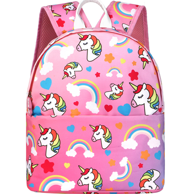 Unicorn backpack Orthopedic Cute dinosaur Baby Backpack Kids baby school bag for Girl boy 2019 Kindergarten Bag