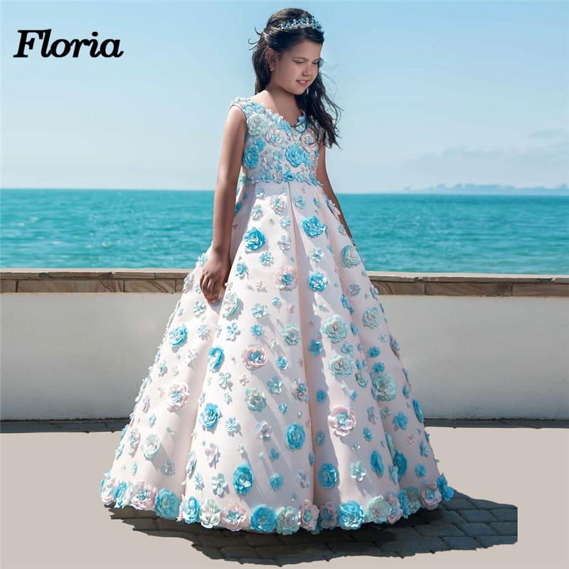 New Flower Girl Dresses For Weddings Vestidos daminha Kids Pageant ...
