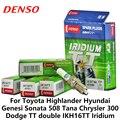4 шт./компл. DENSO автомобильная свеча зажигания для Toyota Highlander Hyundai Genesi Sonata Tana Chrysler 300 Dodge TT двойной Иридиевый IKH16TT