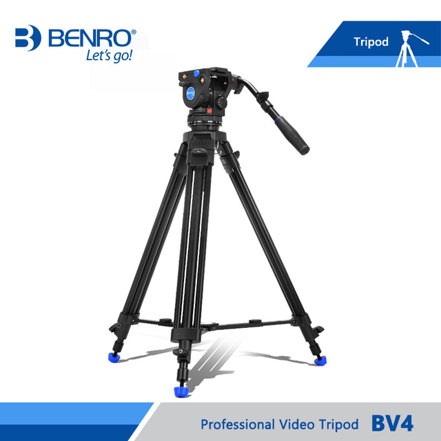 New Film Tripod Video Camera Stabilizer benro bv4 Professional Support For Television Camcorder Aluminum High Quality weifeng wf 717 professional video camera tripod micro film caster wheel base wt 700
