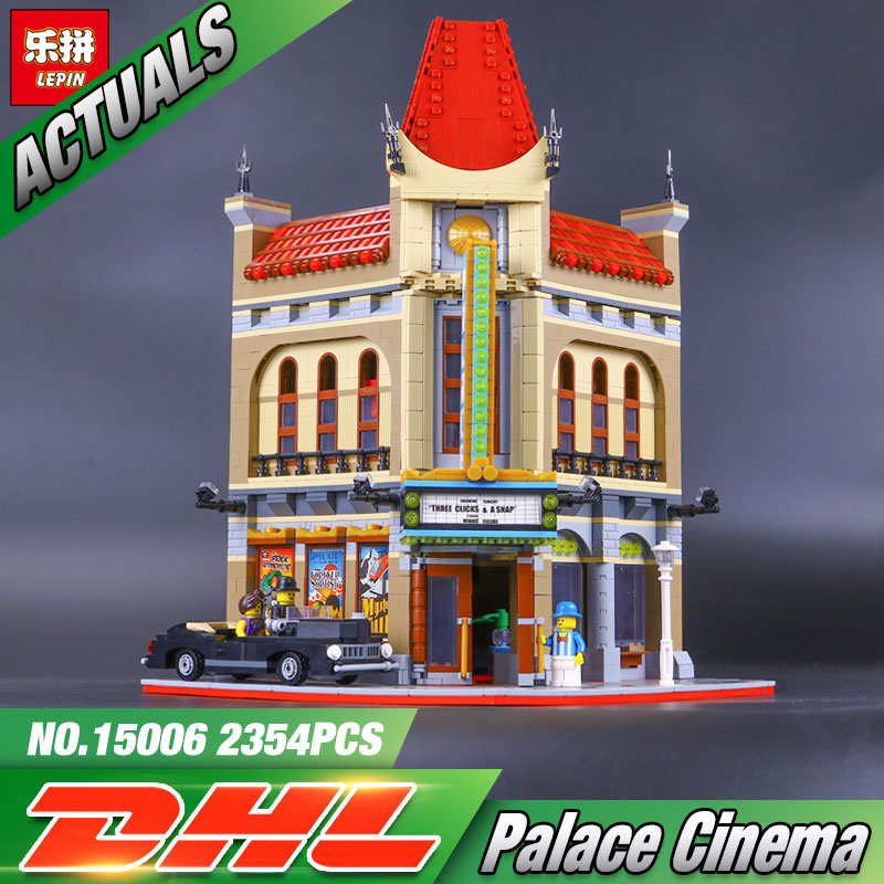 LEPIN 15006 2354pcs Palace Cinema Model Building Blocks Set Bricks Toys Compatible legoing 10232 Toys For Children Birthday Toys