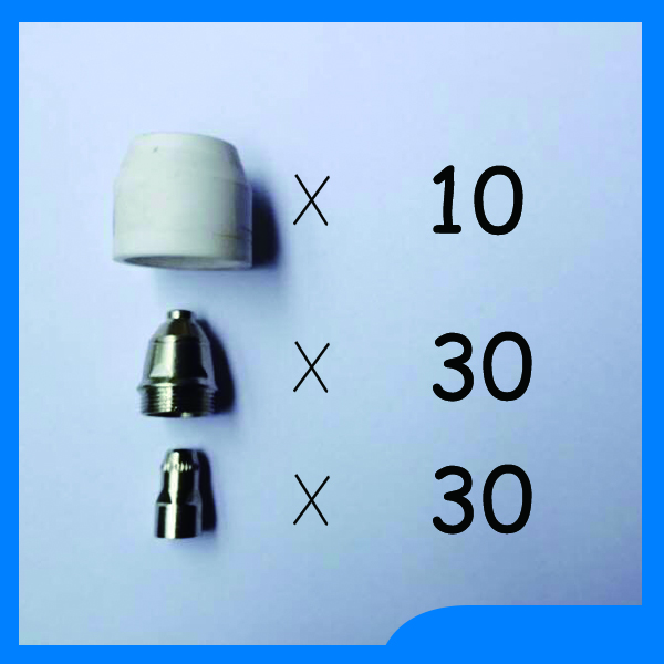 Russian Warehouse Delivery P80 Panasonic Air Plasma Cutting Cutter Torch Consumables Plasma TIPS Nozzles Electrodes 70PK