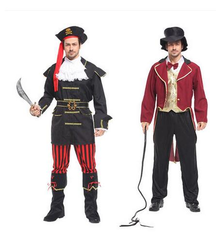 2017 Captain Jack Pirate Costume Buccaneer Swashbuckler Clothing