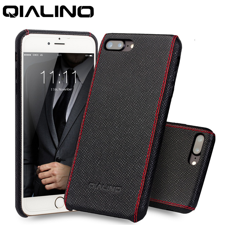 QIALINO Genuine Leather Case for iPhone 8 7 6 6s Plus Apple Luxury Hand Stitching Cell