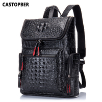 2017 New Crocodile Genuine Leather Men S Backpack Male Leather High Quality Student Travel Bag Men