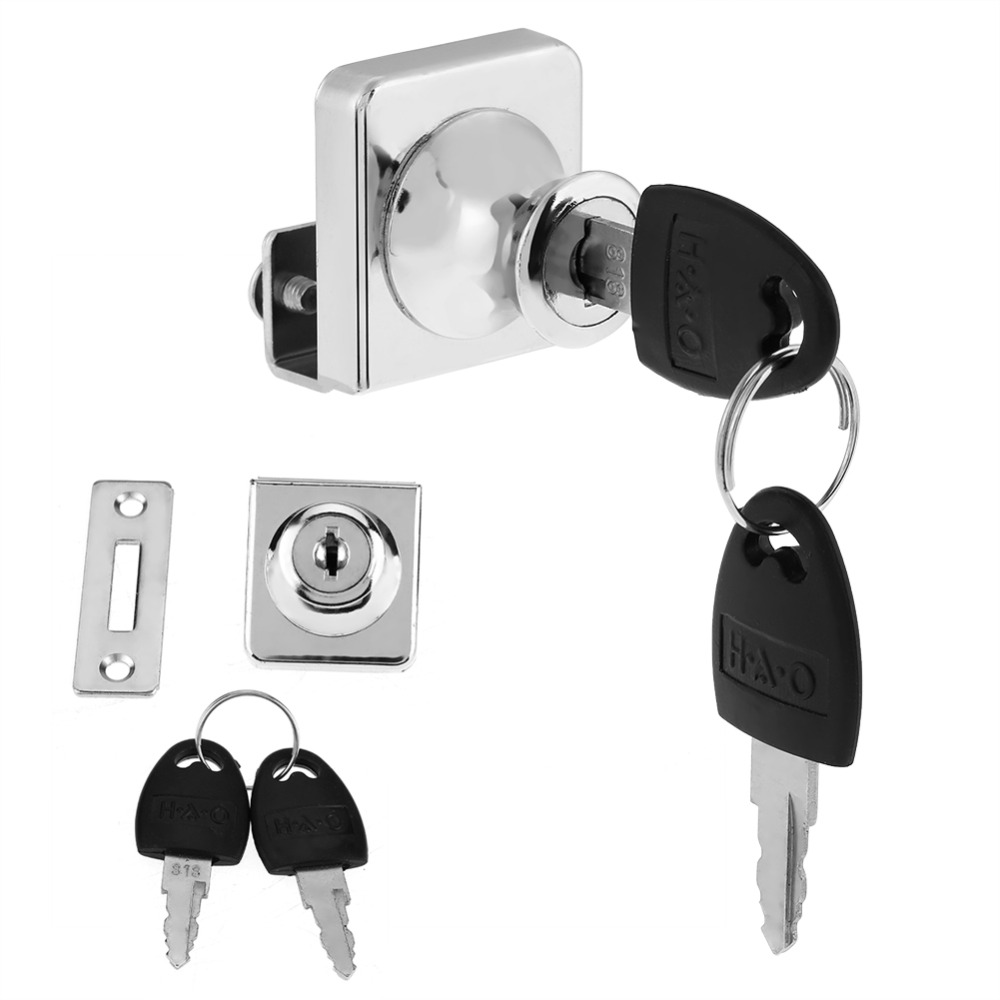 Zinc alloy Single Door Drawer Lock keep Safty and Security with Keys Door Locks Security Locking Cylinders Home Office Hardware