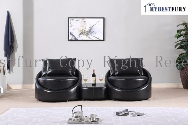 Divano Nero Moderno : Mybestfurn moderno divano nero fatto di spessore in pelle italiana
