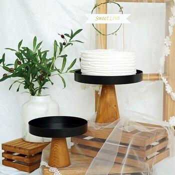 "high feet wood cake stands 8""10"" ornament Storage rack wedding cake tools for fondant cupcake Home Storage holders"