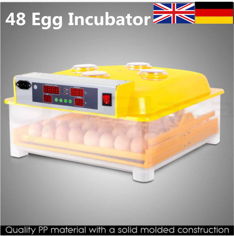 Automatic egg brooder incubator 48 eggs China cheap hatchery machine for hatching chicken ducks parrot AU EU Stock small chicken poultry hatchery machines 48 automatic egg incubator 220v hatching for sale