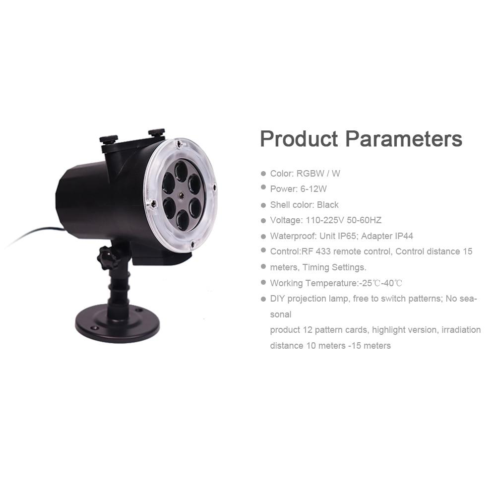 Großhandel 12 Karte Projektionslampe Hd Film Weihnachten Projektor ...