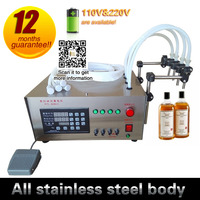 4 fill nozzles gear pump liquid quantitative liquid bottling machine oil fill machine