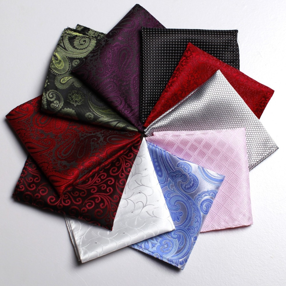 CityRaider Brand Silk Pocket Squares For Men Handkerchiefs For Wedding 10pcs/lot Wholesale VIP Link C022