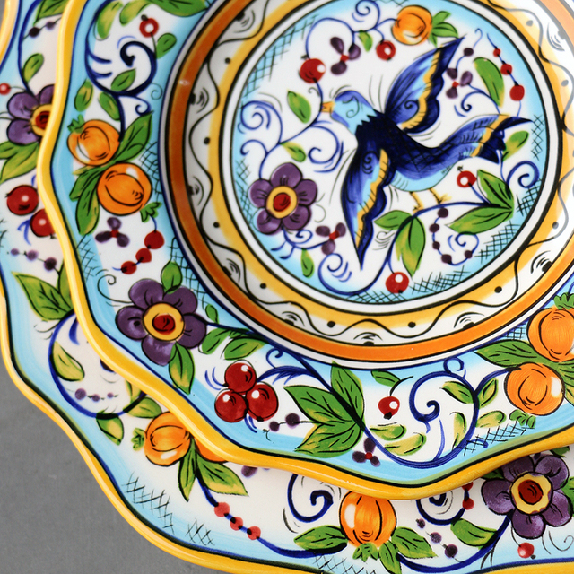 Hand-painted Bohemian Ceramic Tableware