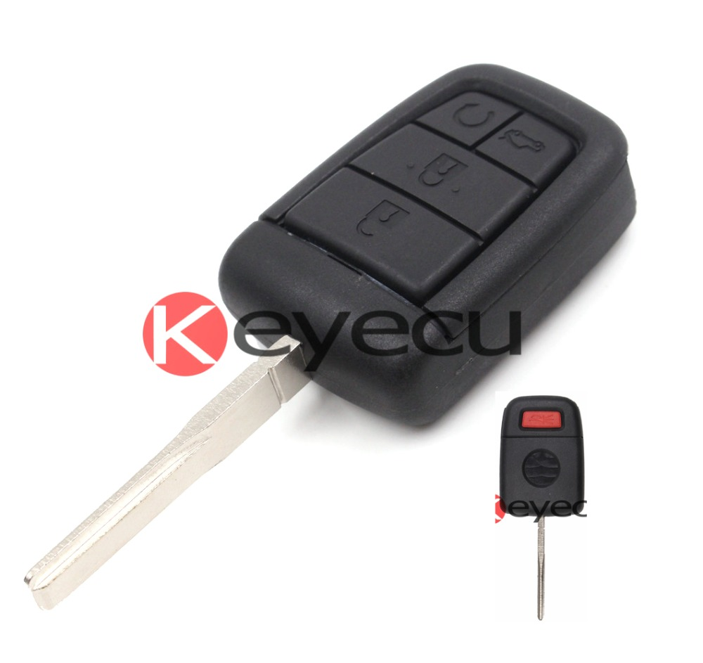 Keyecu 2pcs/lot Replacement Shell Remote Key Case Fob 4+1 Button for Chevrolet Holden Commodore