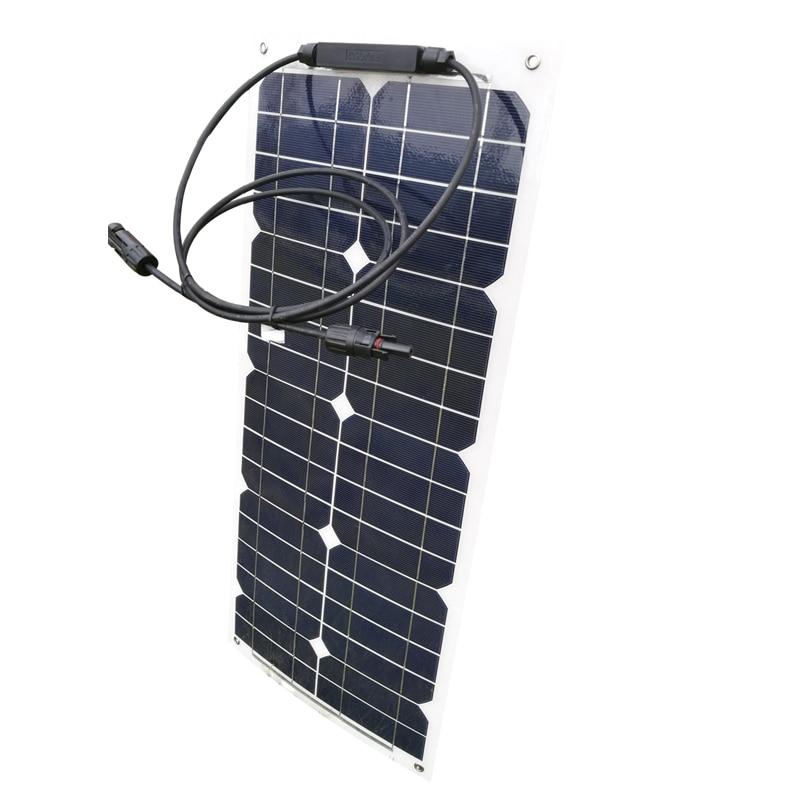 Flexible Solar Panel 12v 25w 8 Pcs Placas Solares 200 watt Solar Battery Charger Caravan Car Camp Motorhome Rv Boat wholesale in Solar Cells from Consumer Electronics