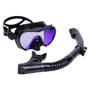 Image 1 - Professional Scuba Diving Masks Silicone Masks Snorkel Anti fog Diving Mask Snorkel Full Dry Tube Underwater Swimming Equipment