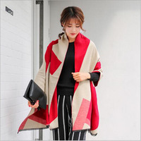 Fashion Women S Scarf 2016 Autumn And Winter New F Stripe Color Combed Double Jacquard Thicken