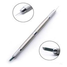 Professional Tebori Microblading Pen For Permanent Makeup Machine Silver Manual Eyebrow Pen 3 In 1 Usage