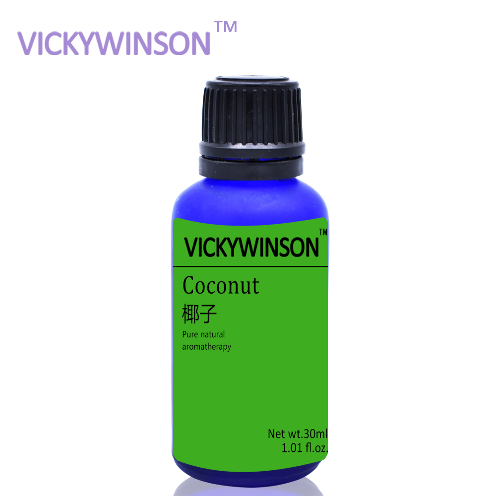 VICKYWINSON Coconut aromatherapy essential oil 30ml Perfume Fill Fragrance Air Freshener Car Smell Supplement Auto Interior WX25