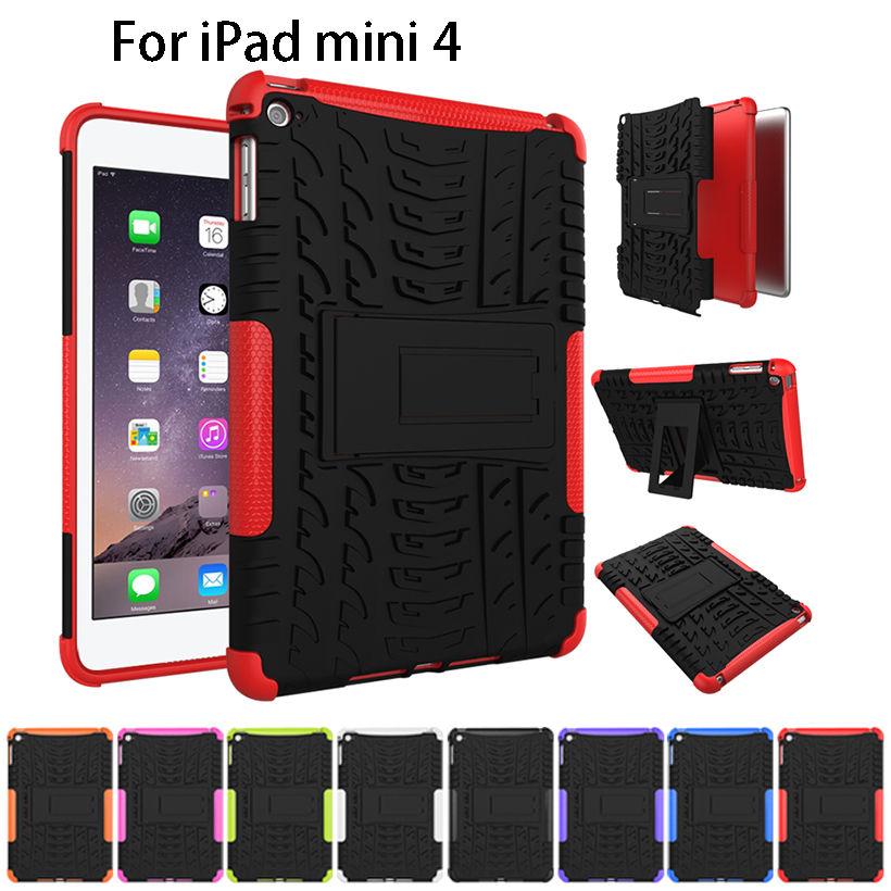Case For Apple iPad Mini 4 Pad Cover Funda Tablet TPU & PC Armor Dazzle Hybrid Kickstand For Apple iPad Mini4 Pouch Bag Cases